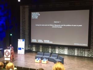 Wayne Modest sin presentasjon 10. oktober i Estonian National Museum, Tartu, Estonia
