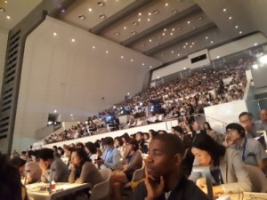 ICOM, Kyoto 2019. The audience in the main auditorium. Plenary lecture by S. Salgado.