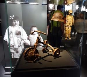 Trehjulssykkel utstilt i Hiroshima Peace Memorial Museum